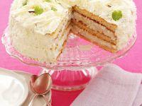 Weiße Torte mit Schokolade und Kokos Rezept