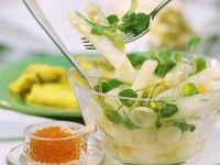 Weißer Spargel-Kressesalat Rezept