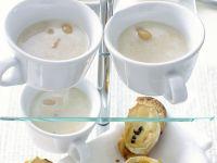 Weißes Bohnensüppchen mit Ziegenkäse-Crostini Rezept