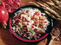 Weißkohl-Dinkel-Pfanne mit Granatäpfeln Rezept