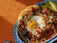 Weizentortilla mit Tomaten und Ei Rezept