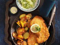 Wiener Schnitzel mit Bratkartoffeln Rezept