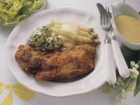 Wiener Schnitzel mit Kartoffeln und Spargel Rezept