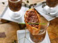 Wildpastete auf Brot zu Wildsuppe Rezept