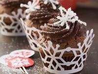 Winterliche Schokoladen-Cupcakes Rezept