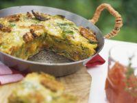 Wirsing-Omelett nach italienischer Art mit Tomatendip Rezept