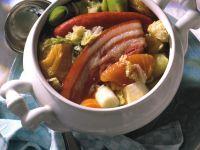 Wirsingeintopf mit Schweineschulter und getrockneten Birnen Rezept