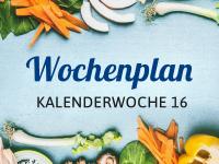 Wochenplan für die Kalenderwoche 16