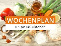 Wochenplan vom 02. bis 08. Oktober 2017