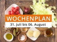 Wochenplan vom 31. Juli bis 06. August 2017