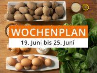 Wochenplan vom 19. Juni bis 25. Juni 2017