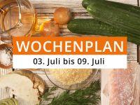 Wochenplan vom 3. Juli bis 9. Juli 2017
