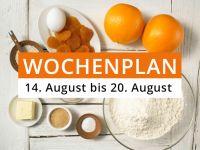 Wochenplan vom 14. August bis 20. August 2017