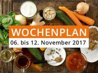 Wochenplan vom 06. bis 12. November 2017
