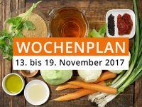 Wochenplan vom 13. bis 19. November 2017