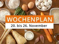 Wochenplan vom 20. bis 26. November 2017