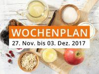 Wochenplan vom 27. November bis 03. Dezember 2017