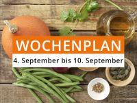 Wochenplan vom 4. September bis 10. September 2017