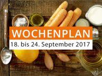 Wochenplan vom 18. bis 24. September 2017