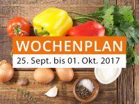 Wochenplan vom 25. September bis 01. Oktober 2017
