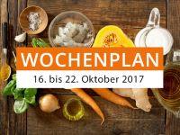 Wochenplan vom 16. bis 22. Oktober 2017