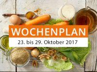 Wochenplan vom 23. bis 29. Oktober 2017
