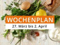 Wochenplan vom 27.März bis 2. April 2017
