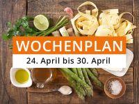 Wochenplan vom 24. April bis 30. April 2017