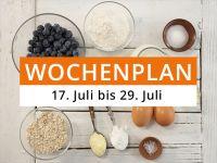Wochenplan vom 17. Juli bis 23. Juli 2017