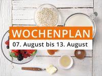 Wochenplan vom 7. August bis 13. August 2017