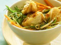 Wok-Gemüse mit Seelachs