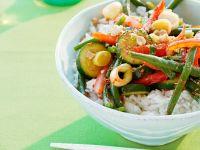 Wokgemüse mit Reis Rezept