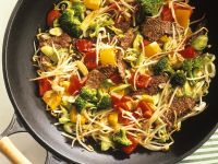 Wokgemüse mit Rindfleisch Rezept
