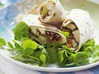 Wrap mit Mozzarella und Birnen