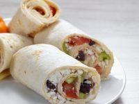 Wraps mit Feta-Gemüsefüllung
