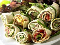 Wraps mit grünem Spargel Rezept