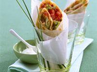 Wraps mit pikanter Salatfüllung Rezept