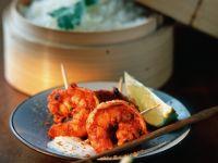 Würzig marinierte Garnelen mit Reis Rezept