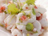 Würziger Fisch mit Koriander und Paprika (Ceviche)
