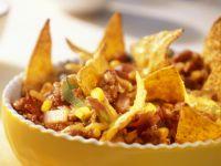 Würziger Hackfleisch-Bohnen-Auflauf mit Nachos Rezept