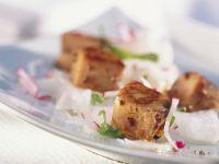 Würziger Lachs mit Rettich und Radieschen Rezept