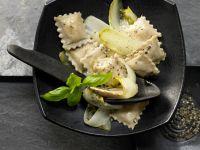Ziegenfrischkäse-Ravioli Rezept