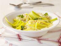 Zitronen-Spaghetti mit Linsensauce Rezept