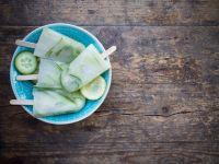 Zitroneneis mit Gurke Rezept