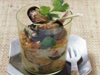 Zitronengras-Muscheln mit Papaya Rezept