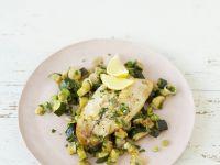 Zitroniges Fischfilet mit Zucchinigemüse Rezept
