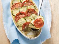 Zucchini-Auberginen-Moussaka mit Tomaten Rezept