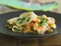 Zucchini-Lasagne mit Jakobsmuscheln und Shrimps Rezept