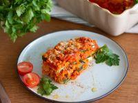 Zucchini-Linsen-Lasagne Rezept