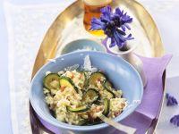Zucchini-Maibock-Risotto Rezept